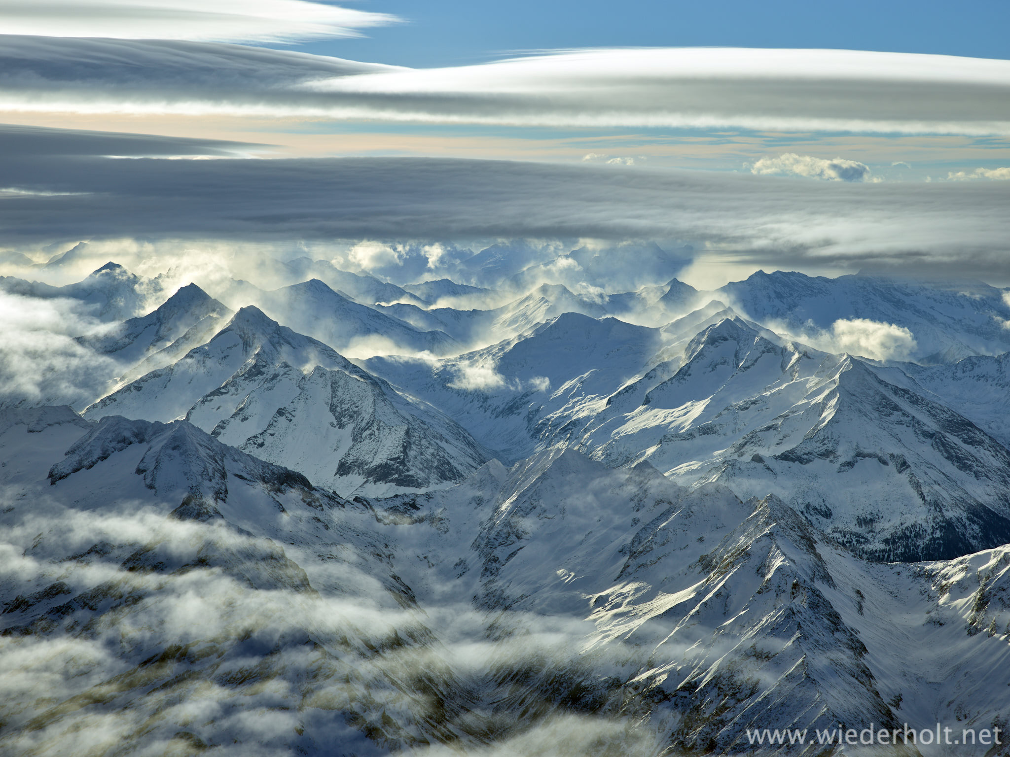 Crossing the Alps on a Hot Air Balloon